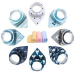 YOOFOSS Baby Bandana Drool Bibs 8 Pack Set for Teething and Drooling , Extra Absorbent 100% Organic Cotton ,Soft and Absorbent Bibs for Boys Girls