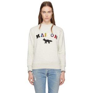 Maison Kitsuné - Ecru Maison Fox Sweatshirt
