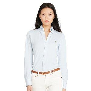 Knit Cotton Oxford Shirt - Button Downs � Shirts & Tops - RalphLauren.com