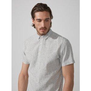 Dot-Dye Cotton-Linen in Grey | Frank And Oak