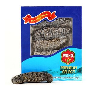 WOHO South America Wild Caught Sea Cucumber Medium Size - 4 Oz
