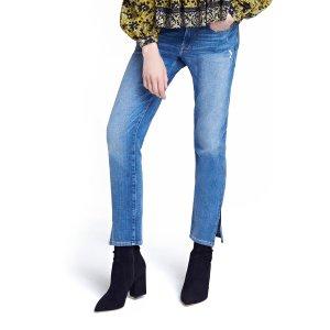 FRAME Le Boy Zip Hem Crop Jeans (Picadilly) (Nordstrom Exclusive)   Nordstrom
