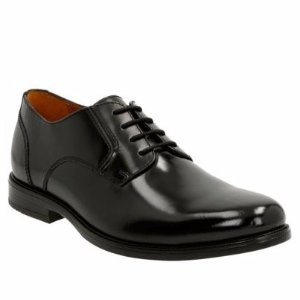Extra40% OFF $35.99Clarks Kinnon Plain Men's Leather Shoes Black