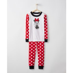 Disney Minnie Mouse Long John Pajamas In Organic Cotton
