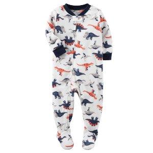 1-Piece Dinosaur Fleece PJs