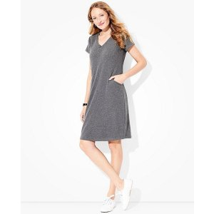 Women's Pocket Dress In Lightweight French Terry