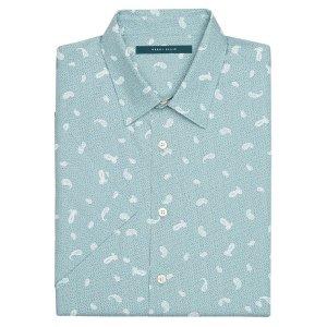 Big and Tall Short Sleeve Paisley Toss Shirt - Perry Ellis