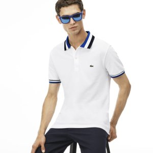 Men's Lacoste Matte Piping Petit Piqué Slim Fit Polo | LACOSTE
