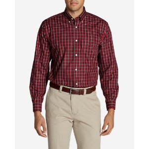 Men's Wrinkle-Free Pinpoint Oxford Relaxed Fit Long-Sleeve Shirt