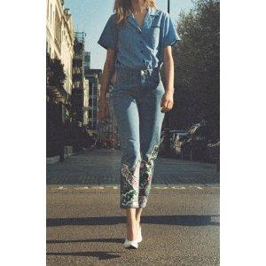 Topshop Glitter Graffiti Mom Jeans | Nordstrom