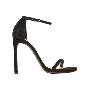 STUART WEITZMAN - 120MM NUDIST SUEDE SANDALS - SANDALS - BLACK - LUISAVIAROMA