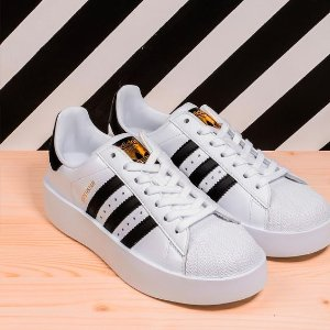 $35Adidas Women's Superstar Perforated Platform Sneakers