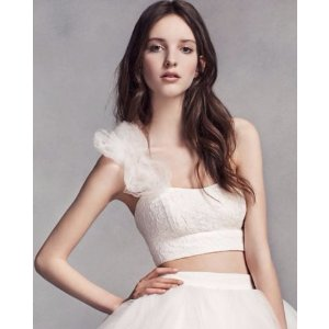 LIMITED EDITION White by Vera Wang Crop Top
