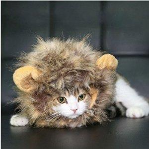 $5.94闪购:Dogloveit 万圣节宠物狮子鬃毛假发