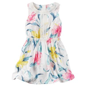 Kid Girl Silky Floral Lace Dress | Carters.com