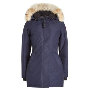 Down Parka with Fur-Trimmed Hood - Canada Goose | WOMEN | US STYLEBOP.COM