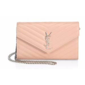 Saint Laurent - Monogram Matelasse Leather Chain Wallet - saks.com