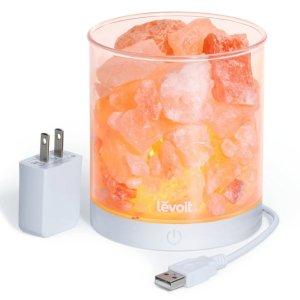 $15.99 Levoit Cora Himalayan Salt Lamp Natural Glow Pink Sea Crystal Rock