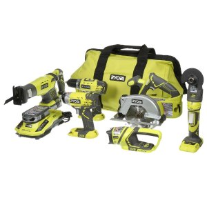 Ryobi ONE+ 18-Volt Lithium-Ion Ultimate Combo Kit (6-Tool)-P884 - The Home Depot