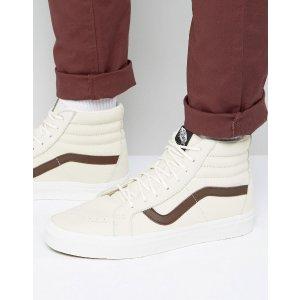 Vans | Vans Sk8-HI Reissue Leather Sneakers In Beige