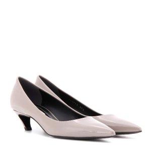 Balenciaga - Patent leather kitten-heel pumps