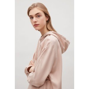 Hooded zip-up jacket - Light Pink - Sale - COS US