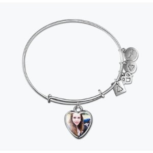 HEART PHOTO CHARM BANGLE
