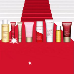 Free 8-pc Gift Setwith $100 Purchase @ Clarins