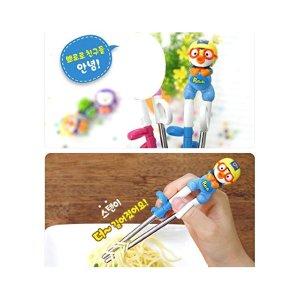 [2016 New Arrival] Pororo Training Chopsticks for Right-hand Children Kids [Stainless Steel]