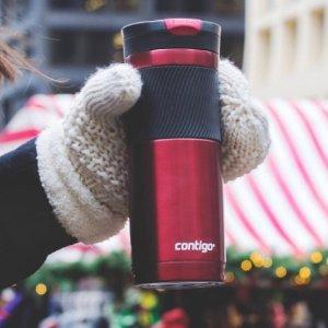 $8.99 史低价Contigo SnapSeal 单手开启真空不锈钢保温杯16盎司