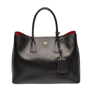 Prada Black Safiano Medium Handbag | zulily
