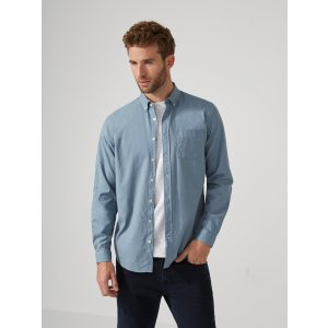 Garment-Dyed Lightweight Oxford Shirt in Citadel | Frank And Oak