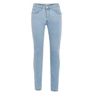 Bleach Wash Blue Stretch Skinny Jeans