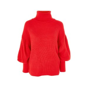 PETITE Balloon Sleeve Roll Neck Jumper - Sweaters & Knits - Clothing
