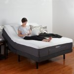 Classic Brands Queen Adjustable Comfort Bed Base with Wireless Remote, USB Port and Massage