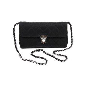Prada Clutch Handbag Black Impuntu Tessuto | Bluefly.Com