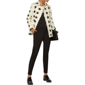 Intarsia wool and angora-blend felt coat