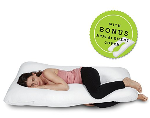 $38.99Full Body Pregnancy Pillow - U Shaped Hypoallergenic Maternity Support Cushion for Pregnant and Nursing Women - Comfortable, Therapeutic, Machine Washable - Bonus Replacement Cover - By ComfySure