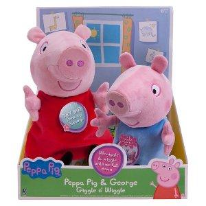 Peppa Pig Peppa & George Giggle and Wiggle Plush - 2 Pack : Target