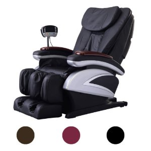 New Full Body Shiatsu Massage Chair Recliner w/Back Roller & Heat Stretched Foot