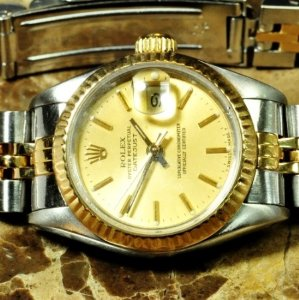 $6795( Orig $9150)Rolex Lady Datejust 18K Yellow Gold Ladies Watches (3 Styles!)