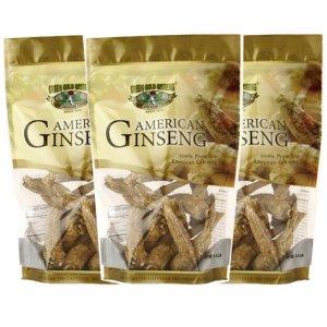 American Ginseng Root Large 8oz bag x 3