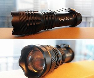 OxyLED OxyWild MD22 Mini Zoomable Rechargeable CREE LED Flashlight Torch, 14500 Li-ion Battery Included