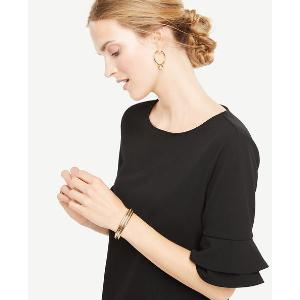 Ruffle Sleeve Top | Ann Taylor