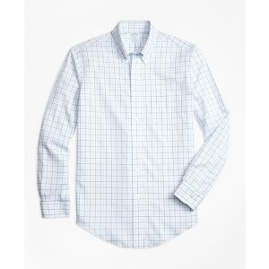 Non-Iron BrooksCool® Regent Fit Tonal Windowpane Sport Shirt - Brooks Brothers