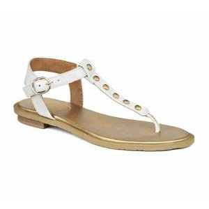 Kamri Back Strap Sandals | White Side Buckle Sandal | Jack Rogers