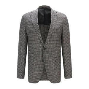 Houndstooth Stretch Virgin Wool Sport Coat, Extra Slim Fit | Roan
