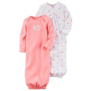 Baby Girl 2-Pack Babysoft Neon Sleeper Gowns | Carters.com