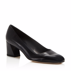 Marymid Leather Block Heel Pumps