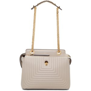Fendi: Grey Small Dotcom Click Bag | SSENSE